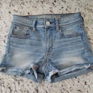 American Eagle Hi-Rise Shortie Shorts Size 2